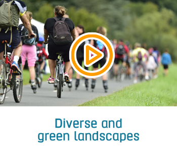 diverse and green landscapes