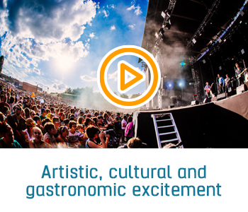 artistic, cultural and gastronomic excitement