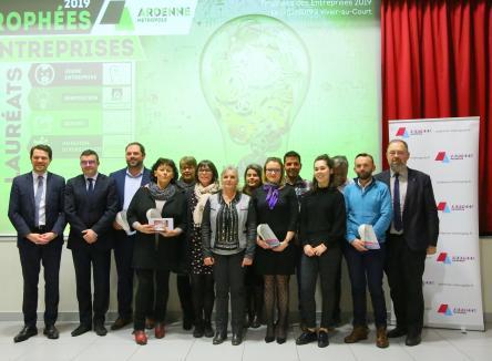 Pour la 3ème année consécutive, Ardenne Métropole a récompensé sept entreprises ardennaises installées sur l'agglomération pour leurs initiatives fructueuses au cours de l'année 2018. La cérémonie de remise des prix a eu lieu vendredi 1er février 2019.