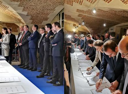 Après plusieurs mois de concertation, de recueil de projets, d'échanges, de validation et de construction, le Pacte Ardennes décidé par l'Etat en 2018, a été signé le 15 mars 2019 par tous les partenaires, en présence des ministres Sébastien Lecornu et Agnès Buzyn